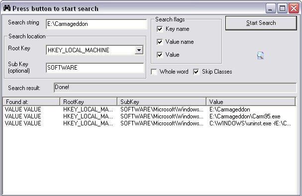 Registry Searcher