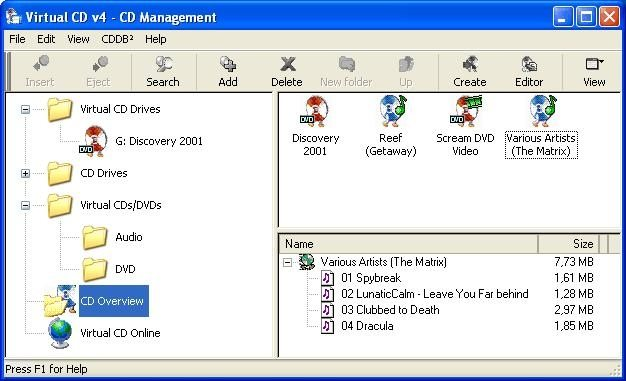 Virtual CD Hide
